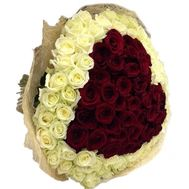 Bouquet of 101 roses - flowers and bouquets on 7roz.kiev.ua