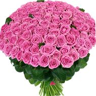 Bouquet of 101 pink roses - flowers and bouquets on 7roz.kiev.ua