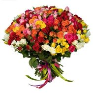 Bouquet of 75 roses - flowers and bouquets on 7roz.kiev.ua