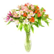 Bouquet of 11 multicolored alstromeries - flowers and bouquets on 7roz.kiev.ua