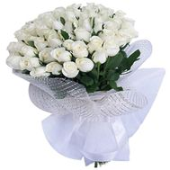 Bouquet of 41 white roses - flowers and bouquets on 7roz.kiev.ua
