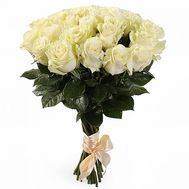 Bouquet of flowers from 25 white roses - flowers and bouquets on 7roz.kiev.ua