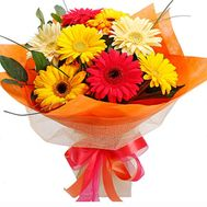 Bouquet of 9 different gerberas - flowers and bouquets on 7roz.kiev.ua