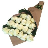 Bouquet of 19 white roses - flowers and bouquets on 7roz.kiev.ua
