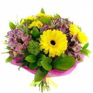 Букет из 3 гербер 3 хризантем и 3 альстромерий - цветы и букеты на 7roz.kiev.ua