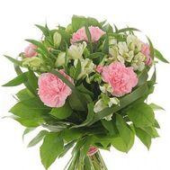 Букет із 17 гвоздик і альстромерії - цветы и букеты на 7roz.kiev.ua