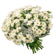 Bouquet of 19 chrysanthemums - flowers and bouquets on 7roz.kiev.ua