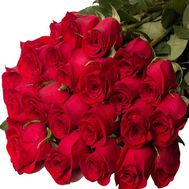 Bouquet of 25 red roses - flowers and bouquets on 7roz.kiev.ua