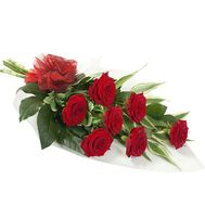 Bouquet of 7 red roses flowers - flowers and bouquets on 7roz.kiev.ua