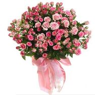 Bouquet of 19 rose roses - flowers and bouquets on 7roz.kiev.ua