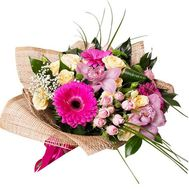 Bouquet of 2 orchids, 5 roses, 1 chrysanthemum and 3 gerberas - flowers and bouquets on 7roz.kiev.ua