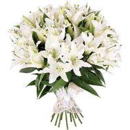 Букет із 35 лілій - цветы и букеты на 7roz.kiev.ua