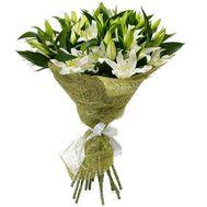 Букет із 15 гілок лілії - цветы и букеты на 7roz.kiev.ua