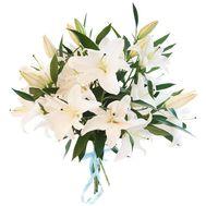 Букет из 5 веток лилии - цветы и букеты на 7roz.kiev.ua