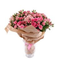 Bouquet of 27 pink roses - flowers and bouquets on 7roz.kiev.ua
