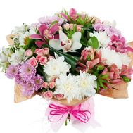Bouquet of 5 roses, 6 alstroemerias and 2 gerberas - flowers and bouquets on 7roz.kiev.ua