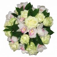 Bouquet of 11 roses and 10 orchids - flowers and bouquets on 7roz.kiev.ua