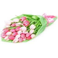 Bouquet of flowers from 31 tulips - flowers and bouquets on 7roz.kiev.ua