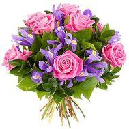 Букет цветов из роз и ирисов - цветы и букеты на 7roz.kiev.ua