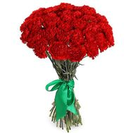 Bouquet of 25 red carnations - flowers and bouquets on 7roz.kiev.ua