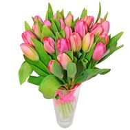 Bouquet of 21 pink tulips - flowers and bouquets on 7roz.kiev.ua