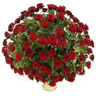 Basket of 101 red roses - flowers and bouquets on 7roz.kiev.ua