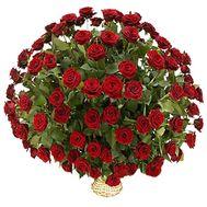 Кошик з 101 червоної троянди - цветы и букеты на 7roz.kiev.ua