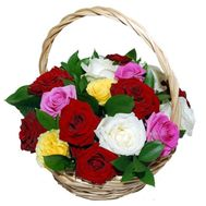Basket of 17 roses - flowers and bouquets on 7roz.kiev.ua