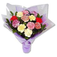 Букет із 15 різнокольорових гвоздик - цветы и букеты на 7roz.kiev.ua