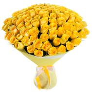 Bouquet of 101 yellow roses - flowers and bouquets on 7roz.kiev.ua