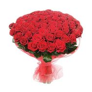 Bouquet of 101 red roses - flowers and bouquets on 7roz.kiev.ua