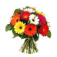 Bouquet of 15 gerberas flowers - flowers and bouquets on 7roz.kiev.ua
