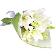 Bouquet of 3 white lilies - flowers and bouquets on 7roz.kiev.ua