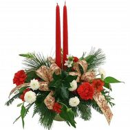 Christmas composition with candles - flowers and bouquets on 7roz.kiev.ua