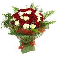Букет із 55 гвоздик - цветы и букеты на 7roz.kiev.ua