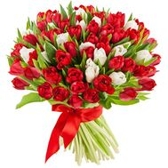 Bouquet of 101 tulips - flowers and bouquets on 7roz.kiev.ua