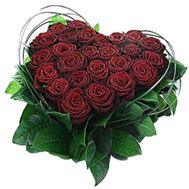 Heart of 25 red roses - flowers and bouquets on 7roz.kiev.ua