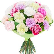 Bouquet of 35 different colored carnations - flowers and bouquets on 7roz.kiev.ua