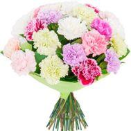 Букет із 35 різнокольорових гвоздик - цветы и букеты на 7roz.kiev.ua