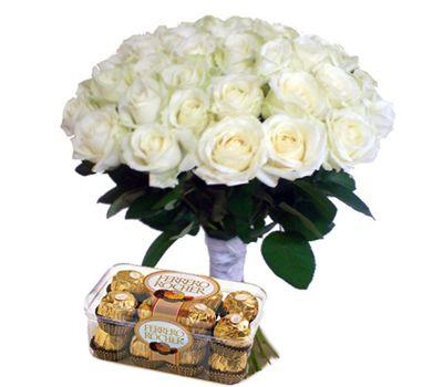 """35 роз и Ferrero"" в интернет-магазине цветов 7roz.kiev.ua"