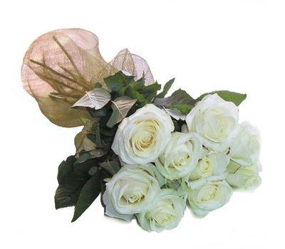 """""""Букет цветов из 9 белых роз"""" в интернет-магазине цветов 7roz.kiev.ua"""