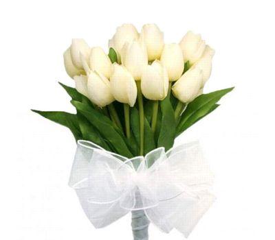 """""""Букет из 17 белых тюльпанов"""" в интернет-магазине цветов 7roz.kiev.ua"""