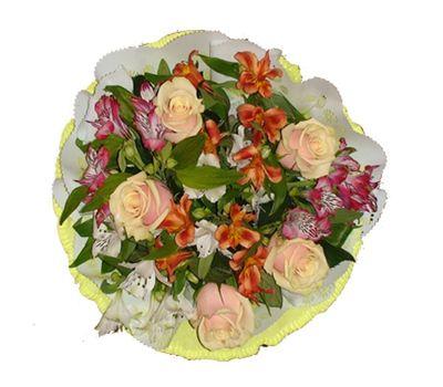 """""""Букет из 5 роз и 6  альстромерий"""" в интернет-магазине цветов 7roz.kiev.ua"""