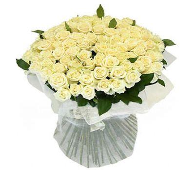 """""""Букет цветов из 101 белой розы"""" в интернет-магазине цветов 7roz.kiev.ua"""