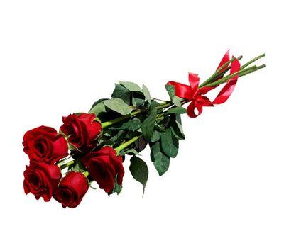 """""""Букет из 5 красных роз"""" в интернет-магазине цветов 7roz.kiev.ua"""
