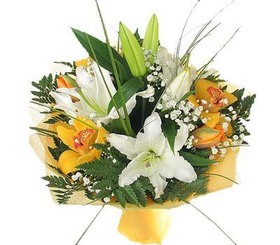 """""""Букет цветов из 2 лилий и 5 орхидеи"""" в интернет-магазине цветов 7roz.kiev.ua"""