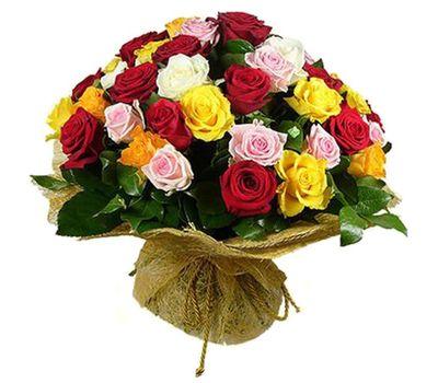"""""""Букет цветов из 55 разноцветных роз"""" в интернет-магазине цветов 7roz.kiev.ua"""