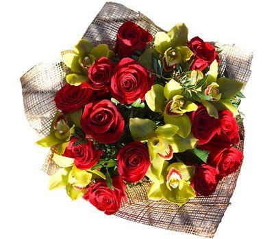 """""""Букет из 8 орхидей и 13 роз"""" в интернет-магазине цветов 7roz.kiev.ua"""