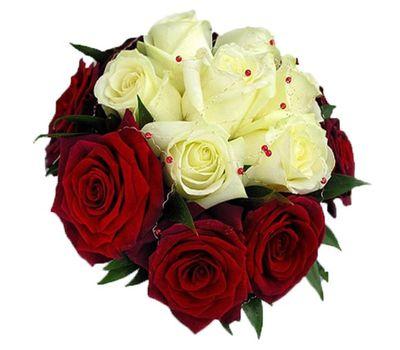 """""""Букет цветов из 17 разноцветных роз"""" в интернет-магазине цветов 7roz.kiev.ua"""