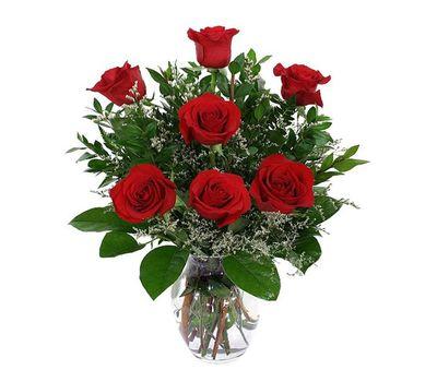 """""""Букет цветов из 7 красных роз"""" в интернет-магазине цветов 7roz.kiev.ua"""
